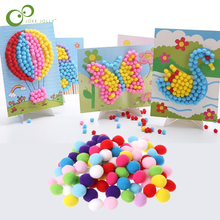 Sticker Crafts Creative Toys Handmade-Material Painting-Toy Puzzles Plush-Ball Educational