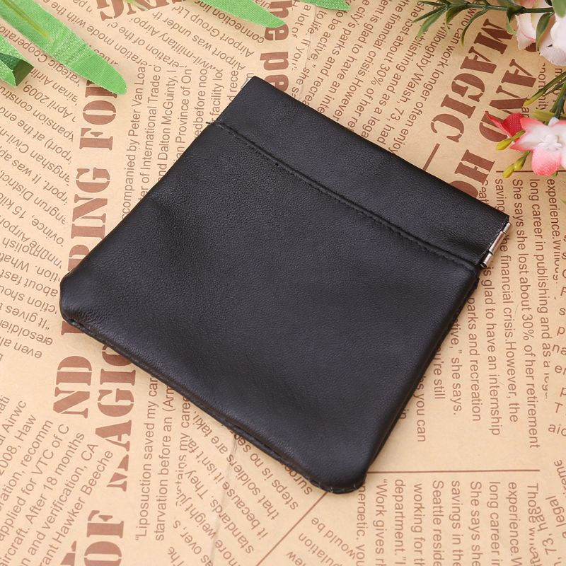 Men Ladies Coin Pouch Snap Top Purse Strong Metal Spring Closure Small Change Bag