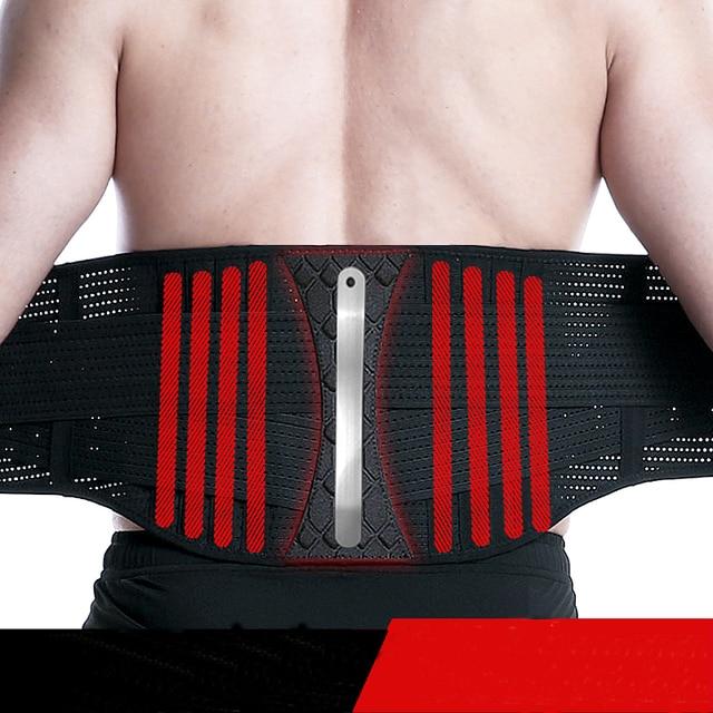 Waist Trimmer Trainer Fitness Gear Utility Belt Adult Sweet Sweat Fajas Lumbares Hombre Sport Belt Workout Back Support Brace 5