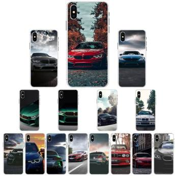 Blue Red Car For Bmw Phone Case For Iphone 5 6 7 8 11 Plus XR X XS MAX SE2020 iPhone 11PRO Transparent Case image