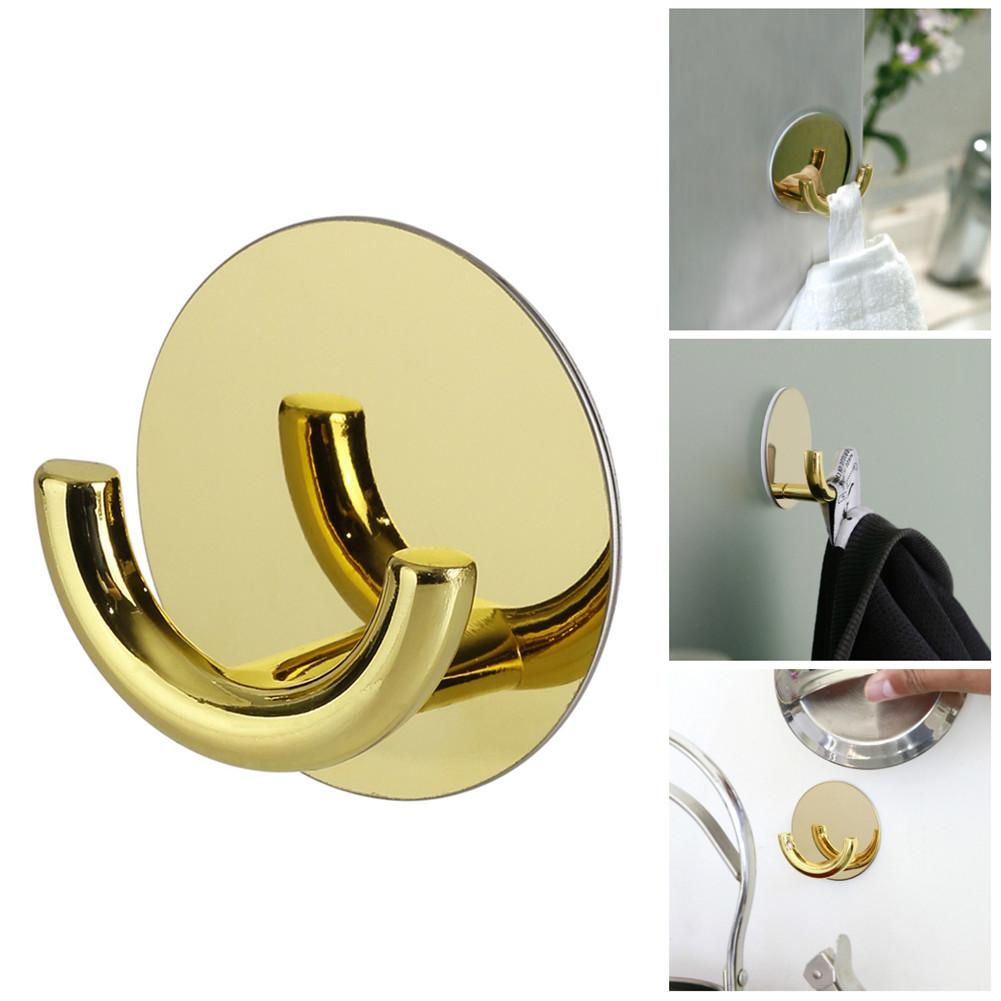 Simple Black Wall Decoration Hook Living Room Gold Hook Display Rack Bedroom Door Coat Hat Hanger Sticky Hook Free Punch