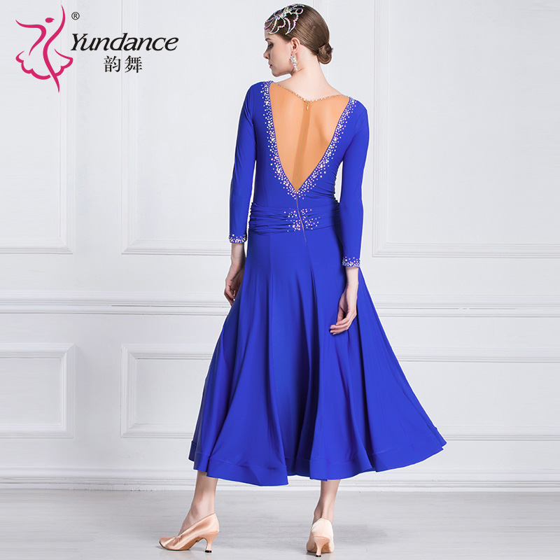Image 2 - The new National standard modern dance clothing big pendulum dress practice clothing ballroom dancing Waltz M18183 1Latin   -