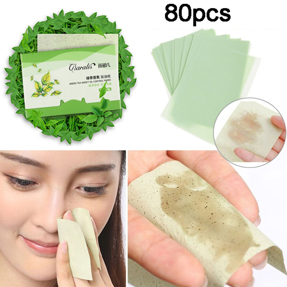 80 sztuk/paczka przenośne Shrink Pore matujący Tissue narzędzia do makijażu twarzy czyszczenie kontrola oleju chłonne papieru Blotting arkuszy 3