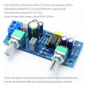 Image 4 - Hot 3C Low Pass Filter Bass Subwoofer Pre AMP Amplifier Board Dual Power NE5532 Low Pass Filter Bass Preamplifier DIY Kit