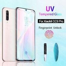 UV Glue Sceen Protector For Xiaomi Mi CC9 Pro Redmi note 7 8 Liquid UV Tempered Glass For Xiaomi Mi CC9 E Redmi k20 Pro 7A 8A A3