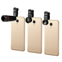 All in 1 Mobile Phone Lenses Fish Eye Wide Angle Macro Camera Lens Set Universal Clip Photo Accessory
