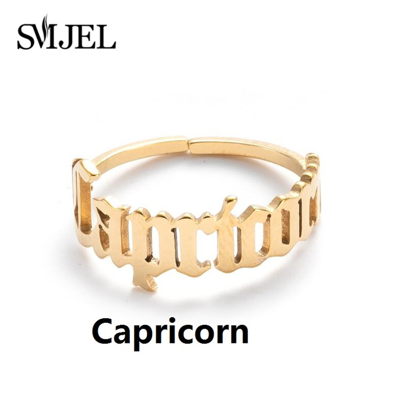 12 Constellations Zodiac Sign Finger Rings™