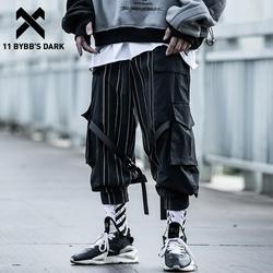 11 BYBB'S DUNKLEN Streifen Band Multi Taschen Cargo Hosen Männer 2020 Lässige Hip Hop Streetwear Harajuku Joggers Hosen Männer