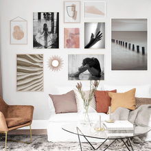 Abstract Watercolor Girl Wall Art Print Canvas Painting Nordic Poster And Prints Pictures For Living Room Decor