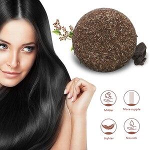 Hair Darkening Shampoo Bar Natural Organic Conditioner Repair Oil Control Nourishing Dark Hair Soothing Scalp Clean Soap TSLM2