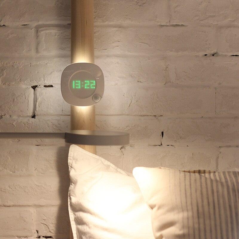 Night-light Clock Battery Magnet Pir-Sensor Brightness Color Power Motion With Two-lighting/Color/Adjustable Magnet Night Lamp