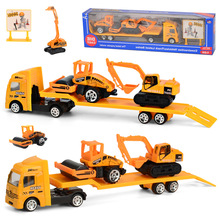 4 Styles Mini Engineering Car Tractor Toy Dump Truck Model Classic Alloy Children Toys Vehicle