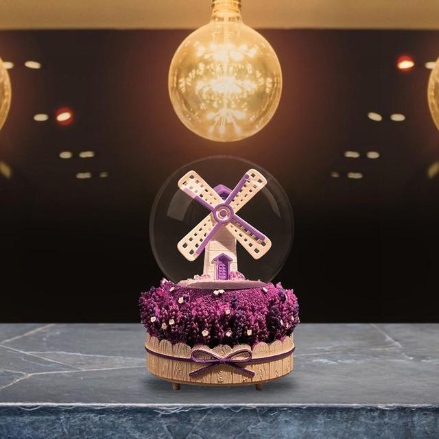 Innovador INS chica corazón molino nieve linternas caja de música con forma de bola de cristal estudiante pareja regalo caja de música adornos regalos de navidad