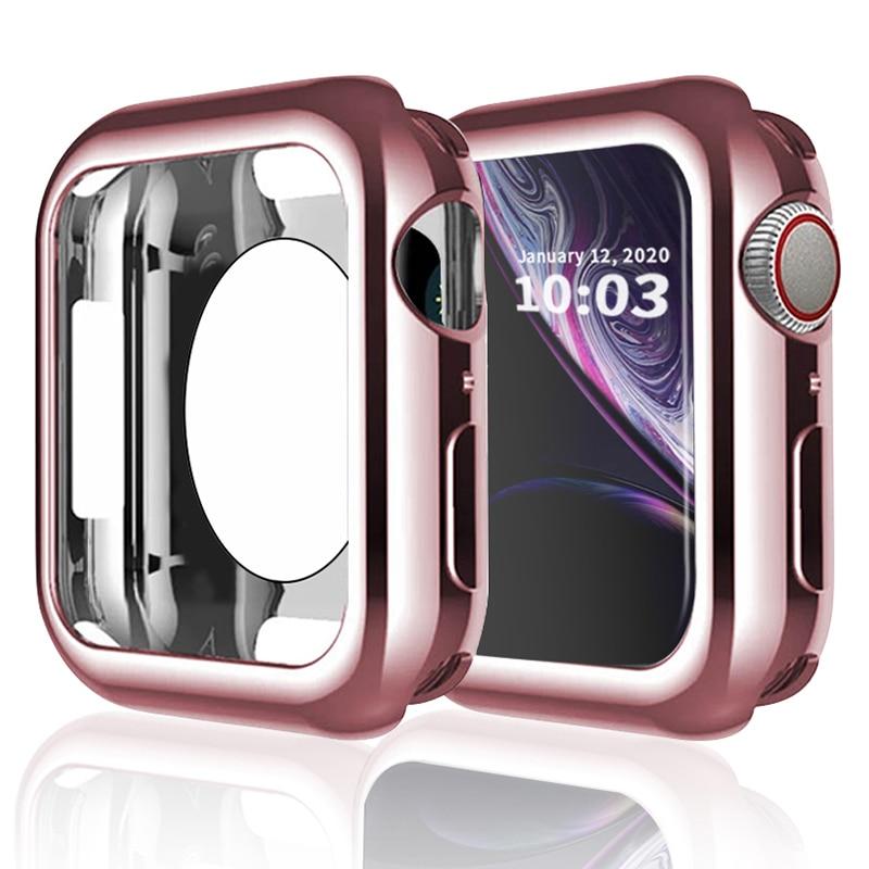 Чехол-бампер для iwatch, мягкий ТПУ ультратонкий устойчивый к царапинам защитный чехол для Apple Watch Series 5 4 3 2 1