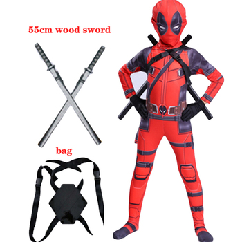 Kids Costume Boys cosplay Superhero Costumes mask suit Jumpsuit Red Bodysuit Halloween party Costume Party Gift For boy girls