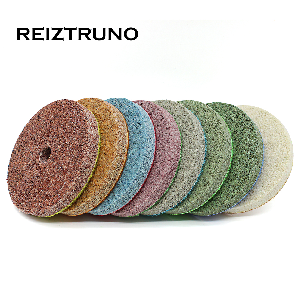 REIZTRUNO 4 Inch 100mm Sponge Fiber Marble Polishing Pads For Wet Polishing Marble Tiles And Marble Floors Polishing Tool Set