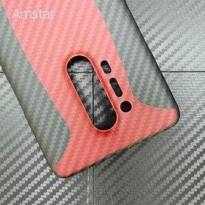 Image 3 - Amstar المزدوج اللون حقيقية ألياف الكربون واقية الحال بالنسبة OnePlus 8 برو جديد رقيقة جدا مكافحة سقوط حقيقي ألياف الكربون غطاء حالات