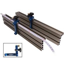 Obróbka drewna Miter t-track track ogranicznik ogranicznika przesuwne wsporniki profil aluminiowy narzędzia diy tanie tanio toohr Połączenie Maszyny do obróbki drewna T-tracks Stop Torba Narzędzia do obróbki drewna As Picture Show Aluminium+Plastic