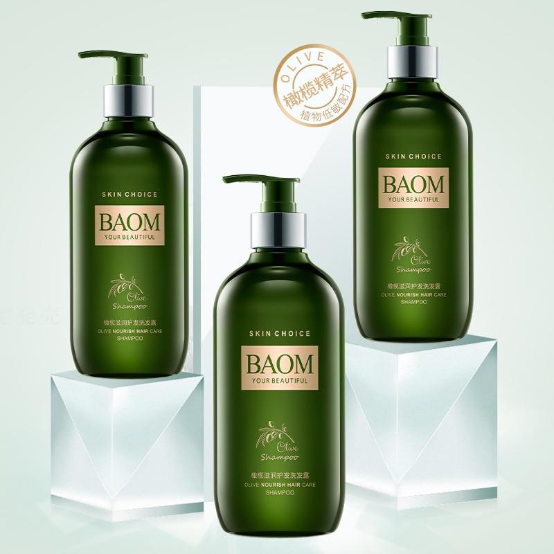 Olive Oil Shampoo 500ml Deep Nutrition organic hair shampoo Repair Oil Control Hair Protection Damaged Hair Oily Dry
