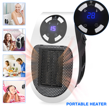 500W Electric Heater Mini Desktop Adjustable Portable Remote Controlled Fan Heater Household Handy Warmer Machine for Winter