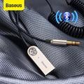 Baseus USB блютуз передатчик Bluetooth адаптер Aux Bluetooth адаптер V5.0 приемник аудио передатчик кабель программный ключ для автомобиля 3 5 мм разъем авто...
