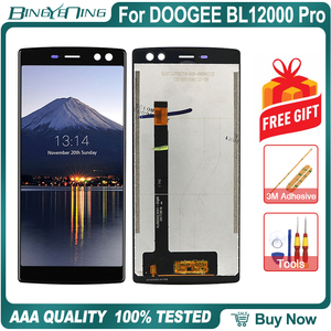 Image 2 - 100% Original For DOOGEE BL12000 Pro LCD&Touch screen Digitizer with frame display Screen module Repair Replacement Accessories