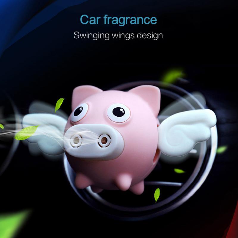 Auto Interior Accessories Cartoon Flying Pig Car Air Outlet Perfume Air Freshener Scent Diffuse Aromatherapy Car Smell Perfume