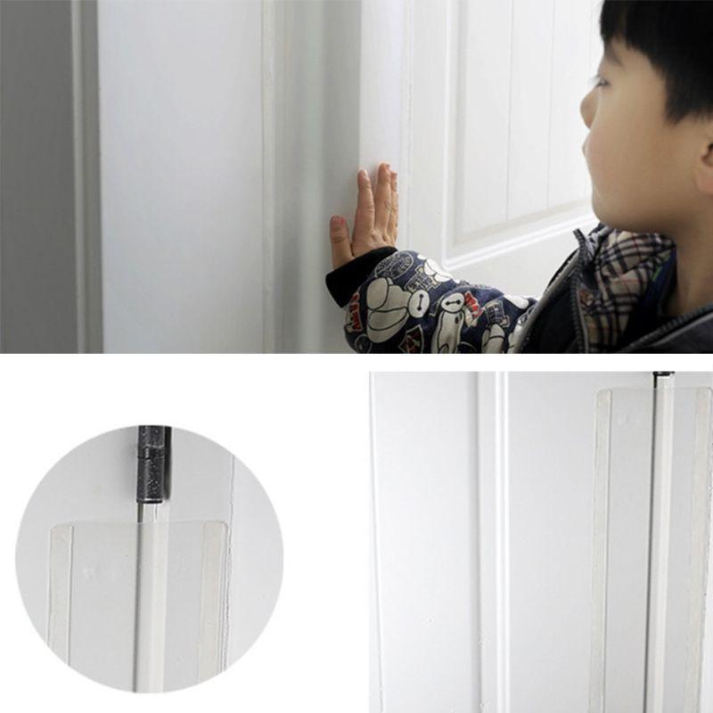 Clear Child Safety Door Hinge Protector Cover Finger Pinch Guard Baby Security For The Back Of Door Domestic Kindergarten Schoo