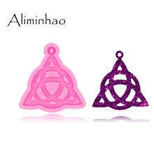 Silicone Mold Keychain Epoxy-Mould Crafting Jewelry DY0446 Necklace Glossy Shiny