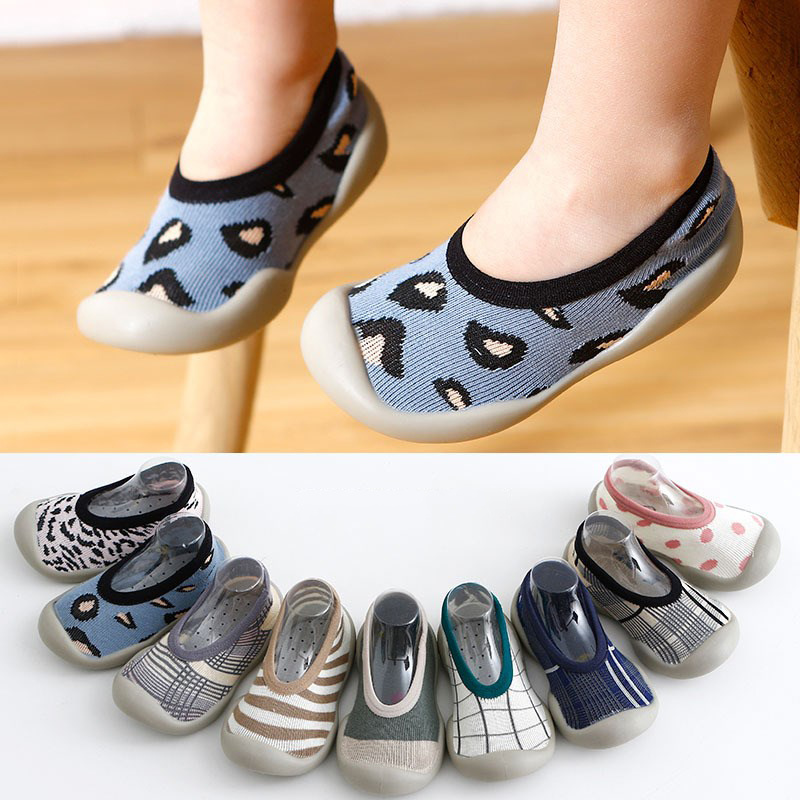 New Baby Boy Shoes Anti-slip Cotton Socks Baby Girl Soft Rubber Sole Toddler Socks Baby Indoor Floor Socks Shoes