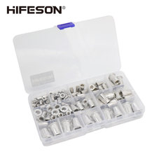 95Pcs and 300Pcs aluminum Rivet Nut set Rivnut Insert Nutsert KIT M3 M4 M5 M6 M8 M10 for Rivet Nut Gun Riveter Tool(China)