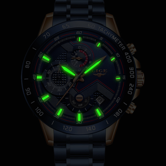 New Fashion Stainless Steel Top Brand Luxury Sports Quartz Watch 3