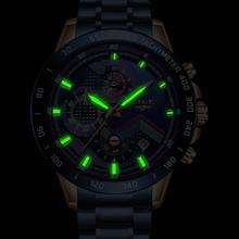 LIGE – luksusowy zegarek męski w sportowym stylu moda dla mężczyzn stal nierdzewna super marka chronograf mechanizm kwarcowy tanie tanio 22cm Moda casual QUARTZ NONE 3Bar Klamerka z zapięciem CN (pochodzenie) STAINLESS STEEL 13mm Hardlex Kwarcowe zegarki