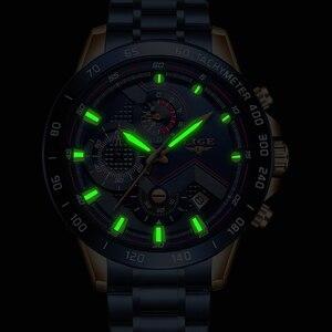 Image 4 - Lige 2020新ファッションメンズステンレス鋼トップブランドの高級スポーツ時計男性レロジオmasculino