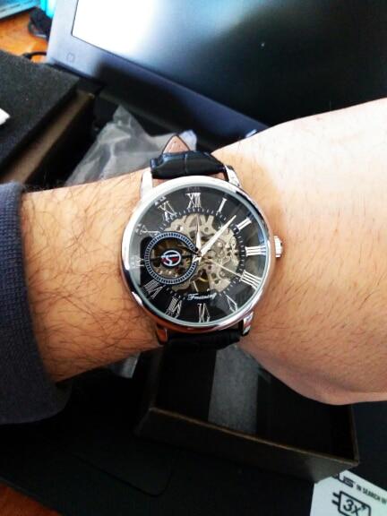 H5b42efb5324949789c7085624e6a26fch Forsining 3d Logo Design Hollow Engraving Black Gold Case Leather Skeleton Mechanical Watches Men Luxury Brand Heren Horloge