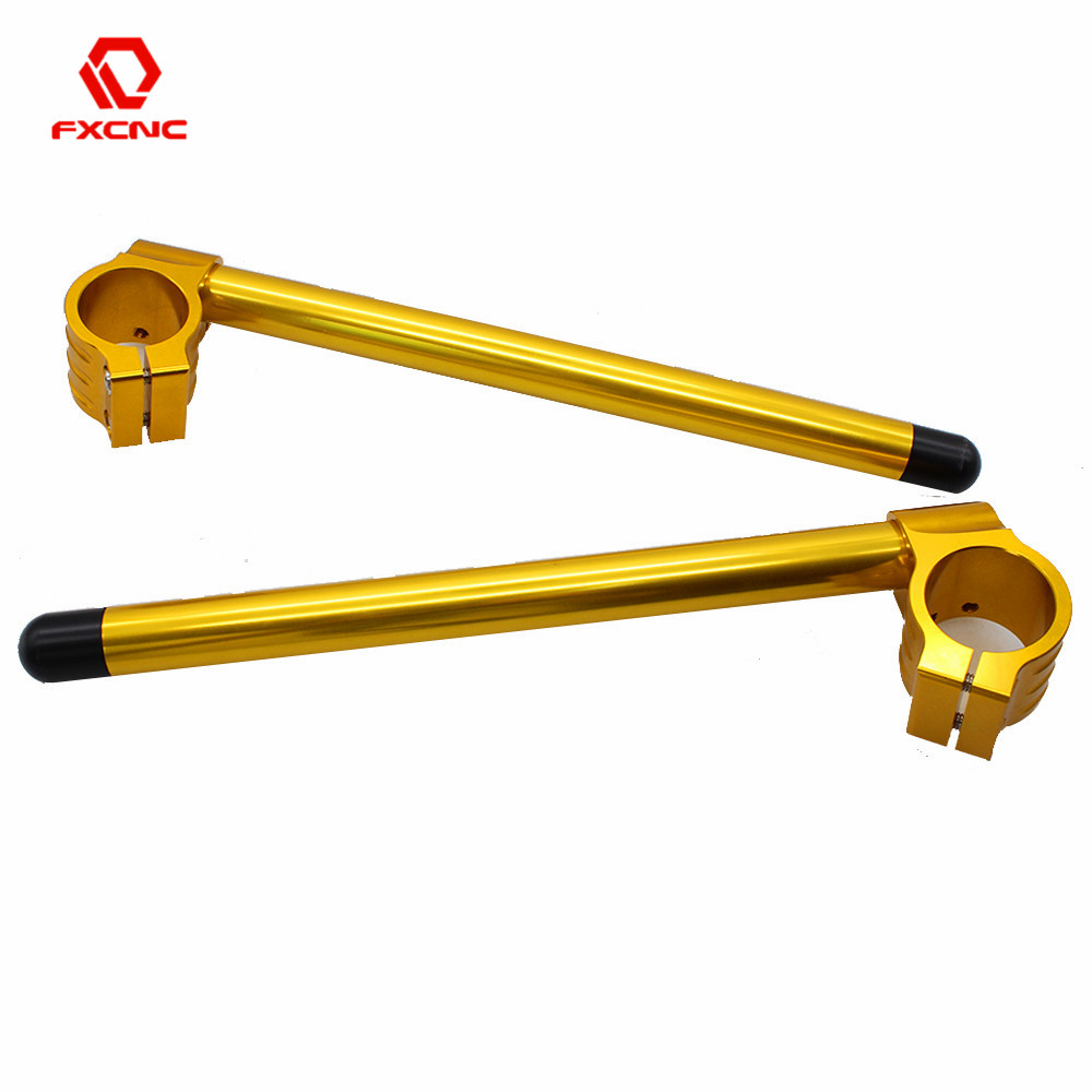 Gold Motorcycle Adjustable Handlebar Clip On 31/33/35/36/37/38/39/41/43/45/48/50/51/52/53/54 55mm Clip-ons Fork Handle Bar Clamp