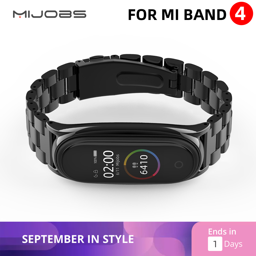 Mi Band 4 Strap Metal Stainless Steel For Xiaomi Mi Band 3 Strap Compatible Bracelet Miband 3 Wristbands Pulseira Miband3 Correa