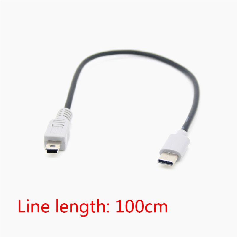 1M USB Type C 3 1 Male To Mini USB 5 Pin B Male Plug Converter OTG Adapter Lead Data Cable for Mobile Macbook Accessories in Data Cables from Consumer Electronics