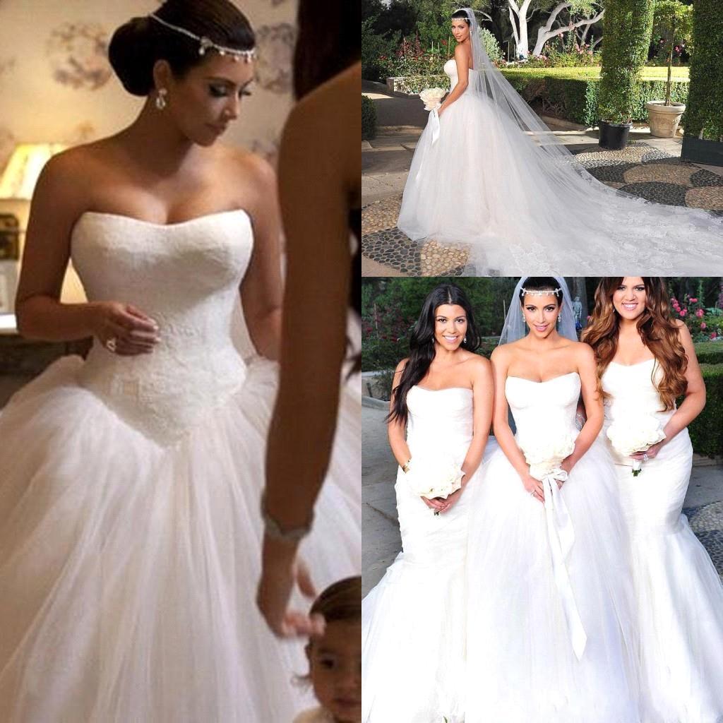 Nouvelle robe de mariée Images réelles offre spéciale mode robe de bal sans bretelles robes de mariée robe de mariée