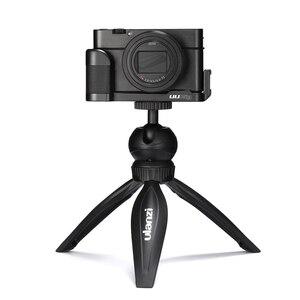 Image 4 - ABKT UURig R017 מיקרופון L סוג ידית אחיזה עבור Sony RX100 VII/M1 M6 אלומיניום L סוגר צלחת כדי מיקרופון LED וידאו אור