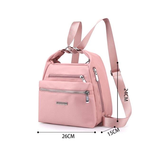 2020 Fashion Woman Shoulder Bag Nylon Waterproof Multi-pocket Messenger Bag Solid Zipper Multifunctional Travel Handbag Purses 4