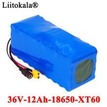 Liitokala 36v 10Ah 500ワット18650リチウムバッテリーパック10000mahバランス車のオートバイ電気自動車の自転車スクーターbms
