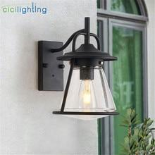2019 New LED Wall Lamp E27 Bulb Sconce Light Fixture Black Art decor LED Porch Lights Outdoor Porch House Home Yard Garden Light
