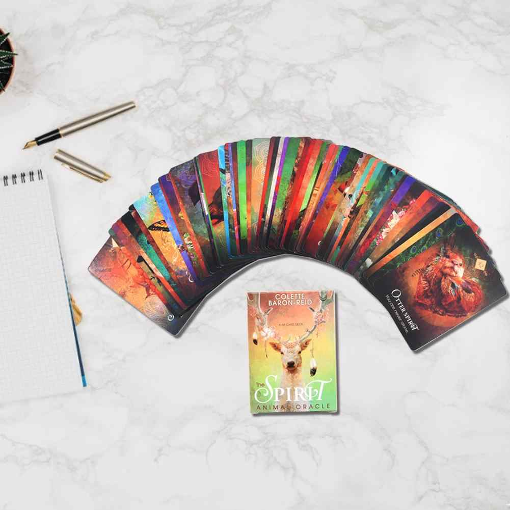 68PCS Tarot Cards Deck Tarot Card For The Spirit Animal Oracle Guidance Divination Fate Board Game For Party Playing Card Games