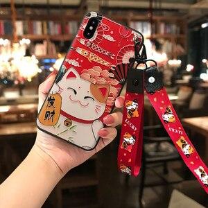 Image 3 - טלפון מקרה עבור Huawei P20 P30 P40 Mate 10 20 30 לייט פרו כבוד 8X 9 10 20 30Pro רך בחזרה מכסה 3D בולט מקרי טלפון שרוך