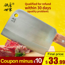 Chef professional chopping knife stainless steel handmade forged kitchen knives cleaver bone fish meat cozinha
