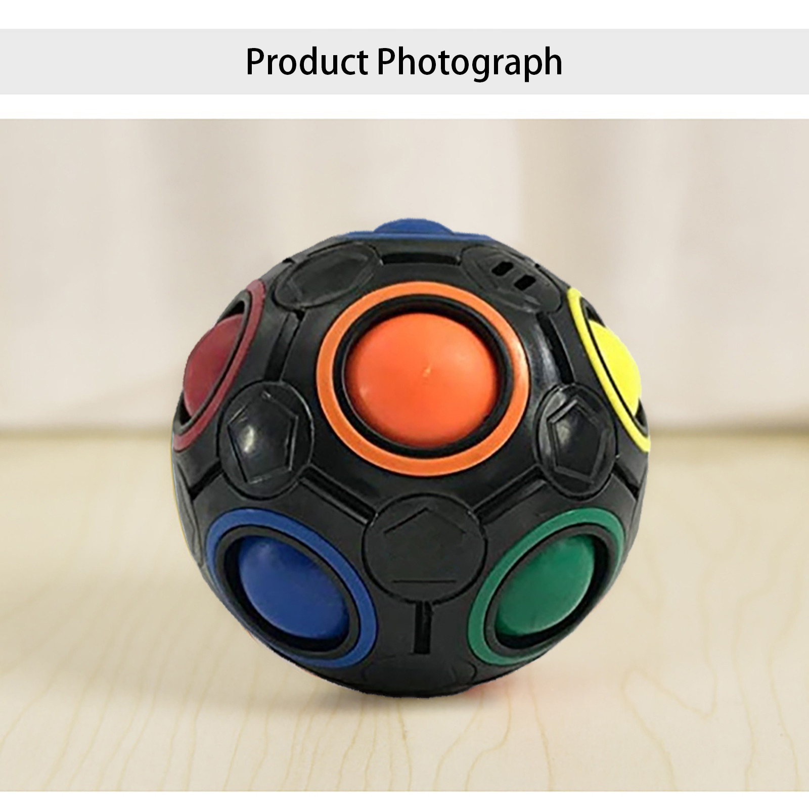 Figet Toys Magic-Ball Rainbow Stress Reliever Anti-Stress Simple Dimple img4