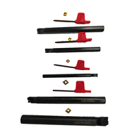 5 Set CNC lathe tools Lathe Turning Tool 5Pcs 7/10/12/16/20mm SCLCR09/SCLCRO6 Boring Bars + 5Pcs Carbide Inserts + 5Pcs Wrenches