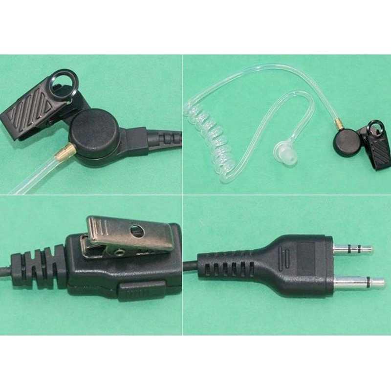 Luft Wärmeleitung Rohr Ohrhörer Ohrhörer Kopfhörer Mic für Midland Walkie Talkie Alan GXT G6 G7 G8 G9 75-810 GXT650 LXT80 Radio Headse