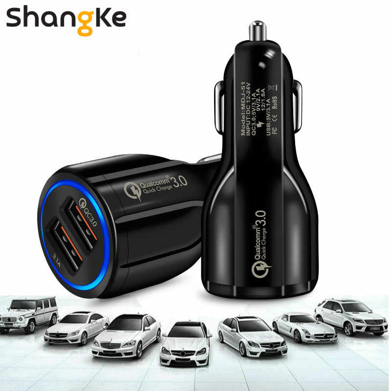 Car USB Charger Shangke Quick Charge 3.0 2.0 Mobile Phone